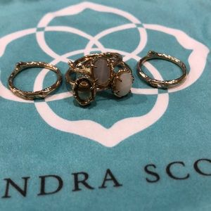 Kendra Scott gold stable ring set